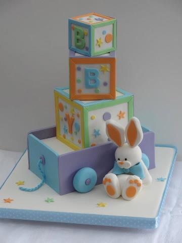 Baby Blocks by Cakes By Jane Design Credit: Debbie Brown