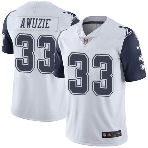 Nike Cowboys #33 Chidobe Awuzie White Men's Stitched NFL Limited Rush Jersey