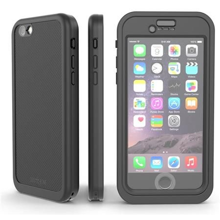 Image of Wetsuit Impact Waterproof Rugged Case for iPhone 6S/6, Blackest Black