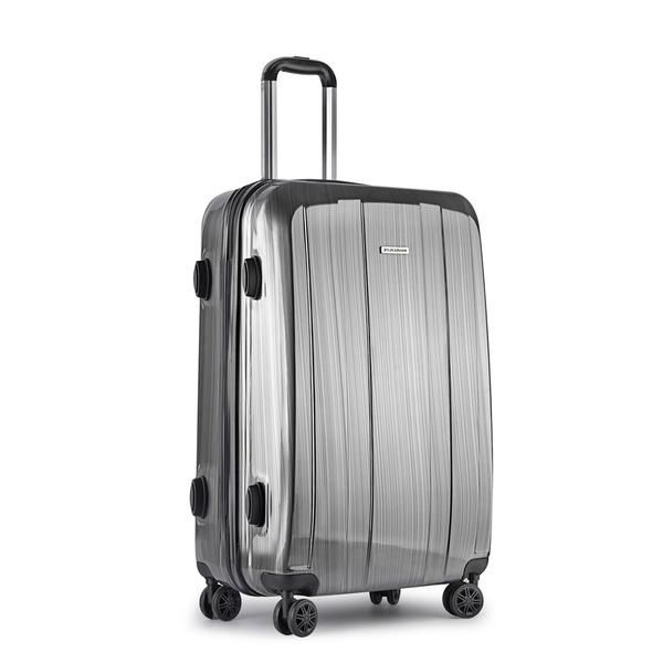 Hard Shell Travel Luggage with TSA Lock Grey – Click Online Sales