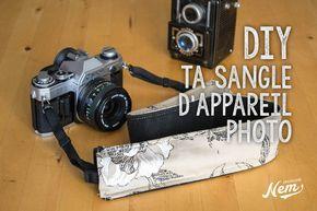 5 DIY pour personnaliser la sangle de ton appareil photo : compact, hybride ou reflex.