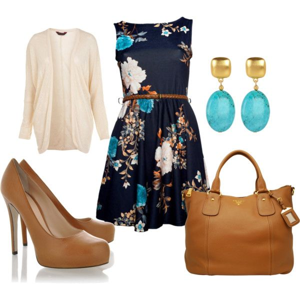 Belted floral with a cardi