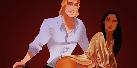 """If Disney Couples Starred in """"Fifty Shades of Grey"""""""