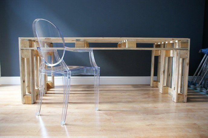 Stół z palet do jadalni, salonu - Dom - DecoBazaar
