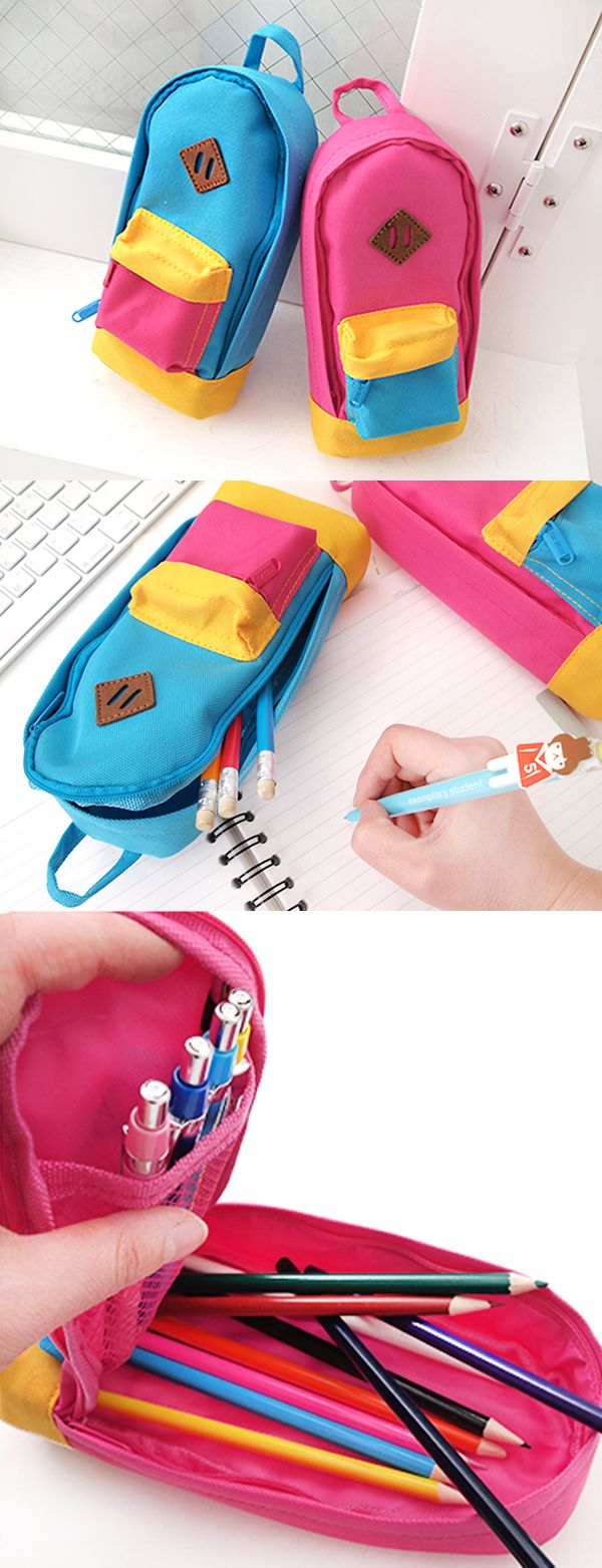 We all know backpacks are highly useful! So is this small backpack pen pouch!! It can hold 25 to 30 pens and pencils in the spacious main compartment, and small items in the super cute outside pocket! Not only is this pouch functional but also unique and adorable! Are you looking for a pen pouch that is fun and really stands out? or a memorable and useful gift? check out this awesome cutie Pen Pouch!