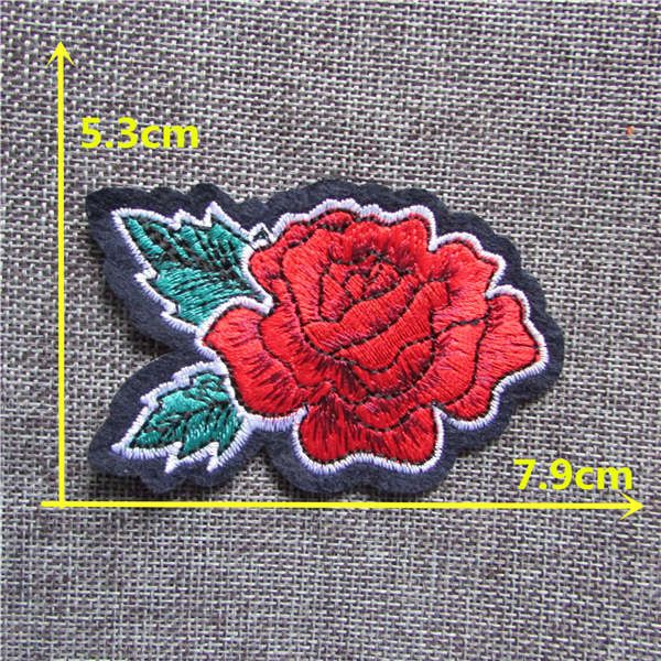brand new different patterend flower new arrive hot melt adhesive applique embroidery patches