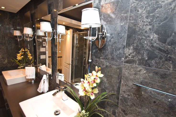 Unique dark grey bathroom! Lustrous look for the brave and the bold... Discover designs that'll suit any style at SCD Design & Construction!