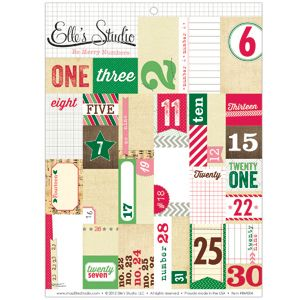 Be Merry - Number Cutouts :: Be Merry :: By Collection :: Elle's Studio Tags :: Elle's Studio