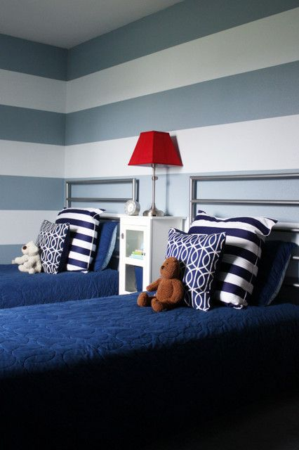 Shared Boys Bedroom contemporary kids