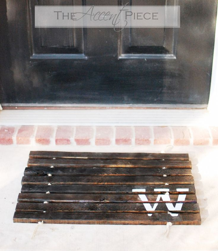 monogrammed plank doormat.  I love it!