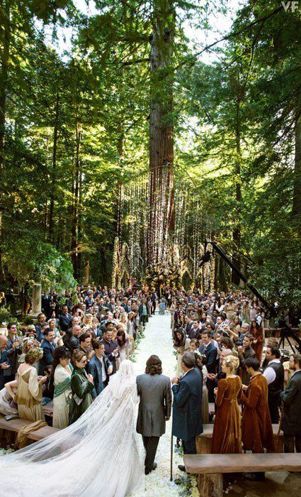 Sean Parker's redwood forest wedding facts. #7:  All 364 guests wore costumes custom designed by Lord of the Rings designer.