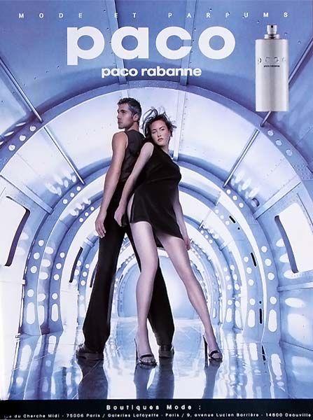 Publicité du parfum Paco de Paco Rabanne