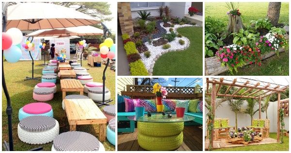 Ideas Para Decorar Patios Con Poco Dinero Decoracion Low Cost Decorar Jardin Con Piedras Maceteros De Jardin Ideas De Jardineria
