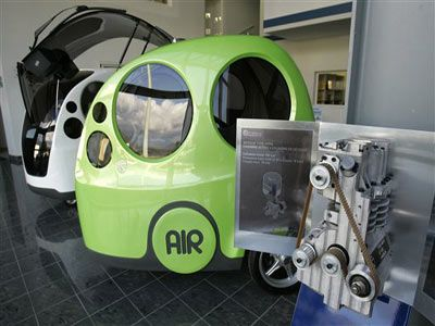 Did you know there is a car designed to run on compressed air? http://www.howstuffworks.com/fuel-efficiency/vehicles/air-car1.htm