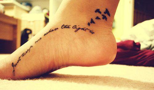 Lights, Tattoo Ideas, Birds Tattoo, John Mayer Lyrics, Design Handbags, Foot Tattoo, Feet Tattoo, A Tattoo, White Ink