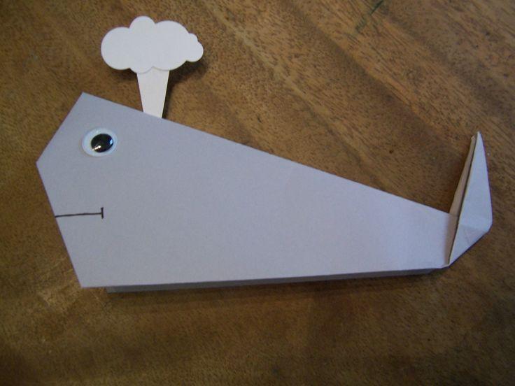 Origami baleine facile pour enfant