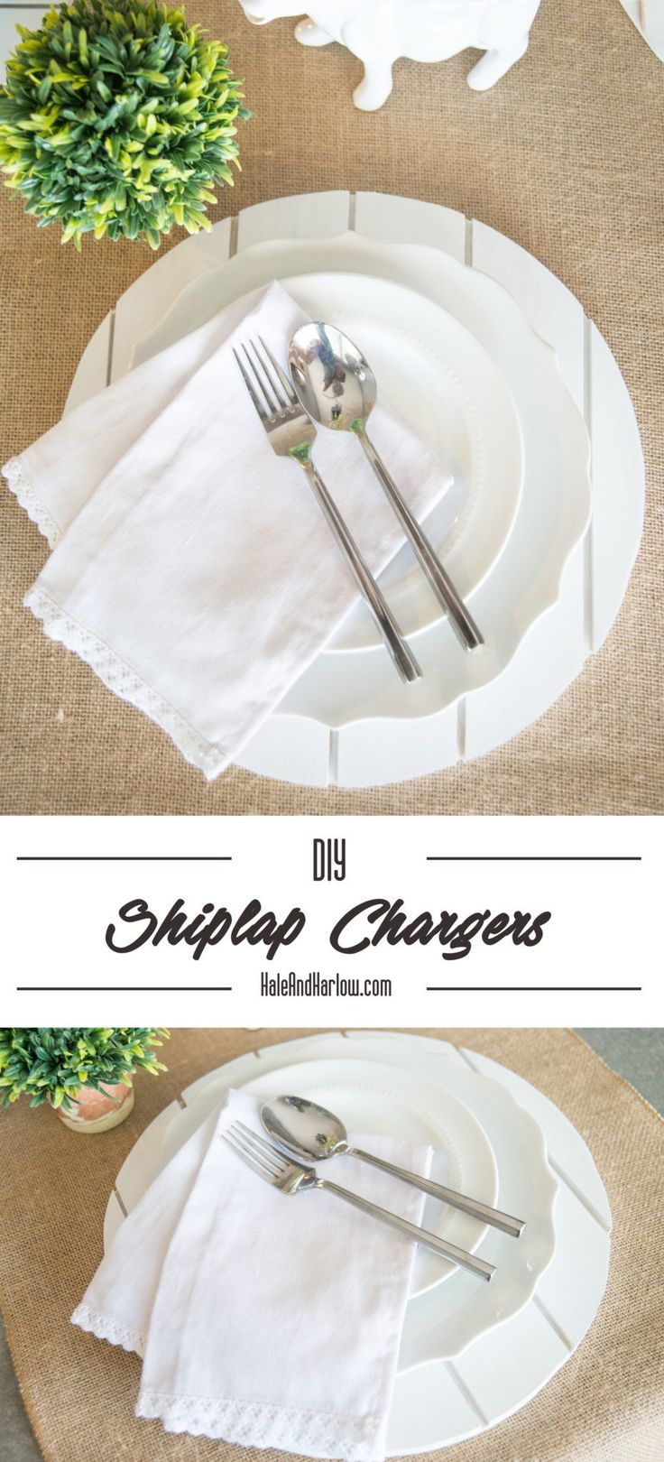 DIY instructions on how to build farmhouse chargers for a rustic tablescape. These will fit in perfectly with any country decor or farmhouse decor.