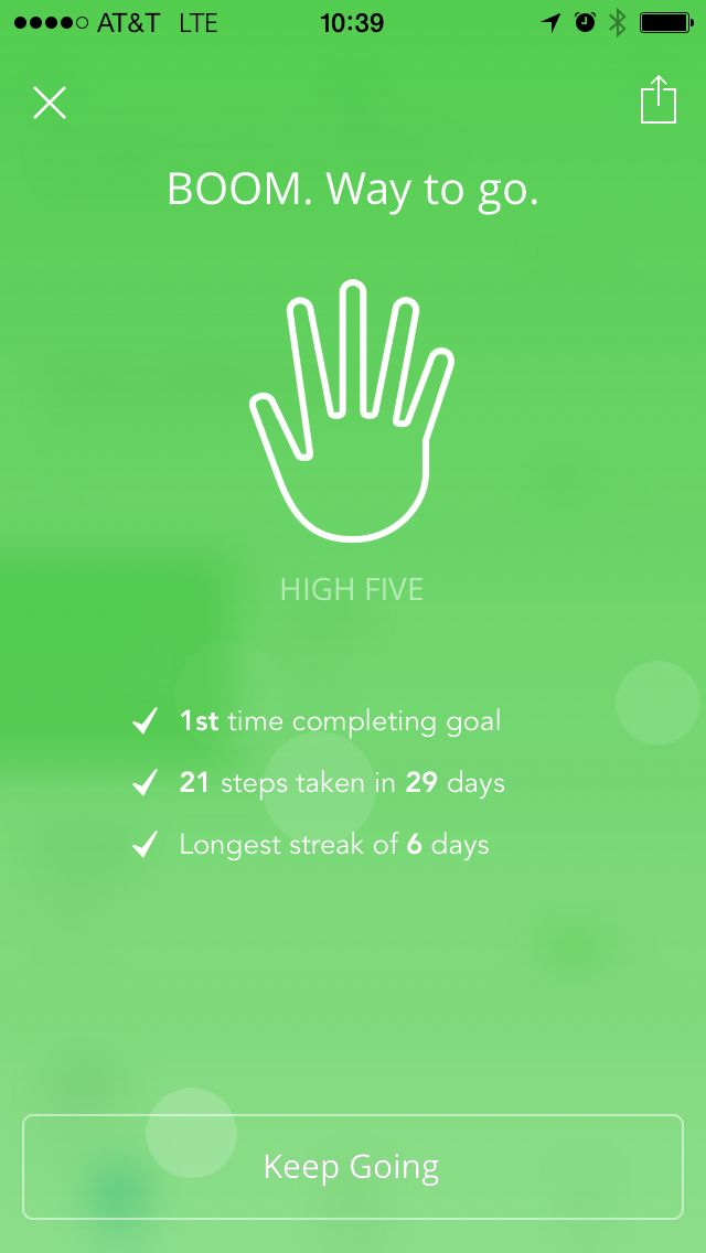 Love this high five feature from Lift App