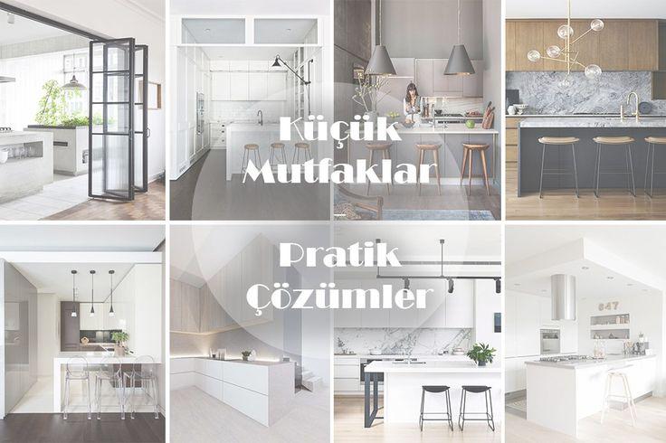 Küçük Mutfaklar için pratik çözümler Mutfaklar, özellikle evlerimizin en sık vakit geçirdiğimiz, pratik, işlevsel aynı