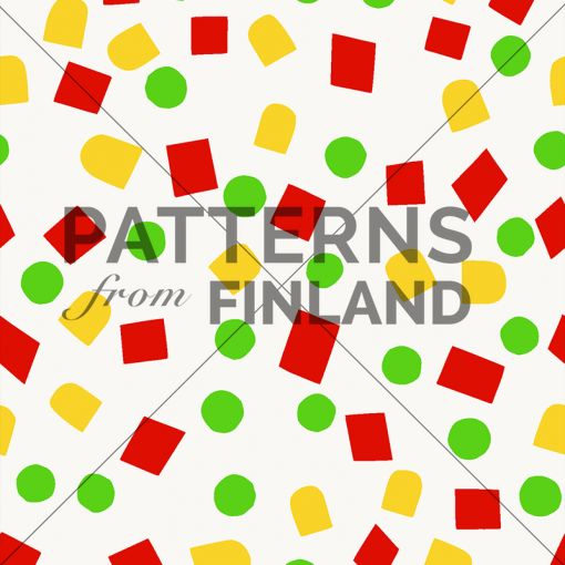Onnenpäivä – Herne Maissi Paprika by Maria Tolvanen  #patternsfromagency #patternsfromfinland #pattern #patterndesign #surfacedesign #mariatolvanen