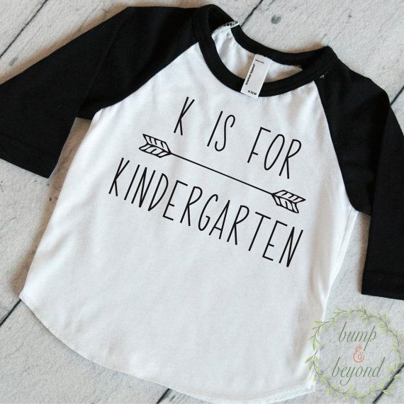 First Day of Kindergarten Outfit, Kindergarten Shirt, K is For Kindergarten, Back to School Outfit, 1st Day of Kindergarten Shirt by BumpAndBeyondDesigns on Etsy
