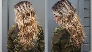how to create beach waves in hair - YouTube