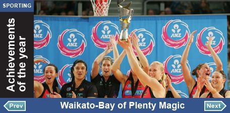 2012 Sporting achievement of the Year Finalist: Waikato-Bay of Plenty Magic
