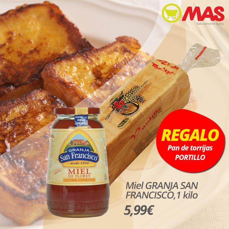 Una #oferta muy de #SemanaSanta: miel de Granja San Francisco (1k) por 5,99€ y de regalo, un pan de torrijas!  #SaborAndaluz #Torrijas