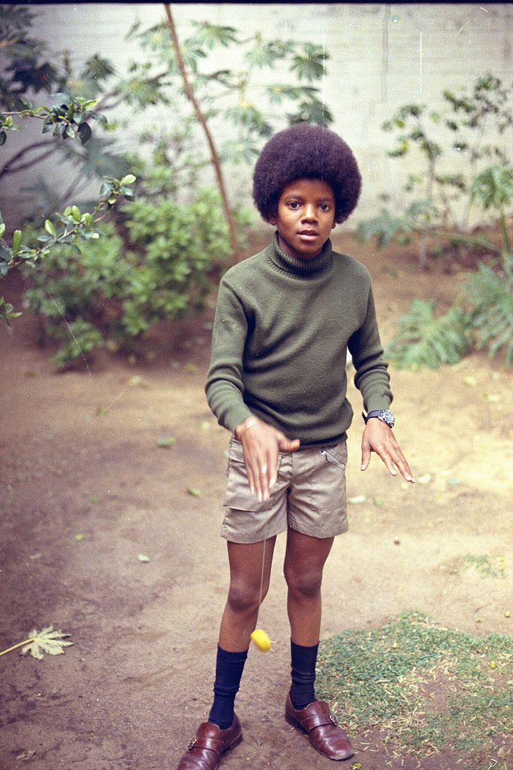 Michael Jackson in some shorts. I never seen that before.