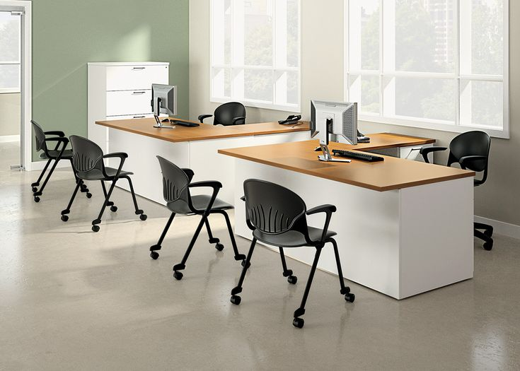 National Office Furniture Cinch Side Guest Seating Waveworks Casegoods In Collaborative Open E Area