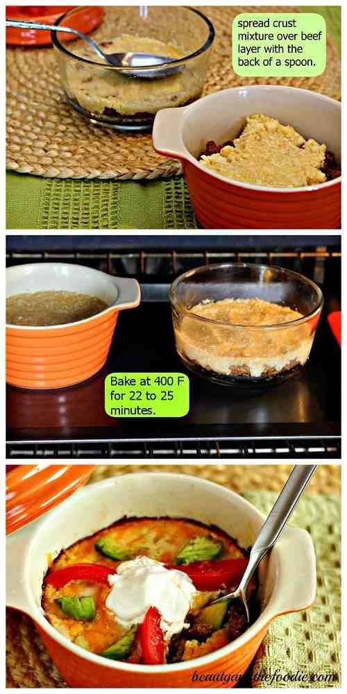 Grain Free Nacho Pot Pie is a grain free, corn free, bean free, primal, low carb, Mexican, beef pot pie with delicious nacho toppings.