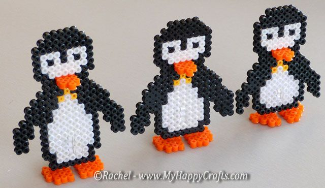 winter carft_fuse beads penguins