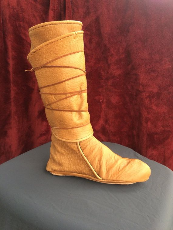 Authentic Leather Wrap Boots New Thick Leather by TheModestMaiden