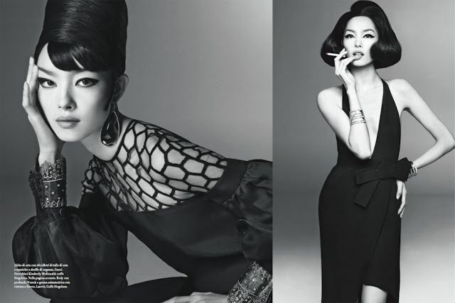 Little Bird Tell: Fei Fei Sun the Model in Vogue Italia January 2013