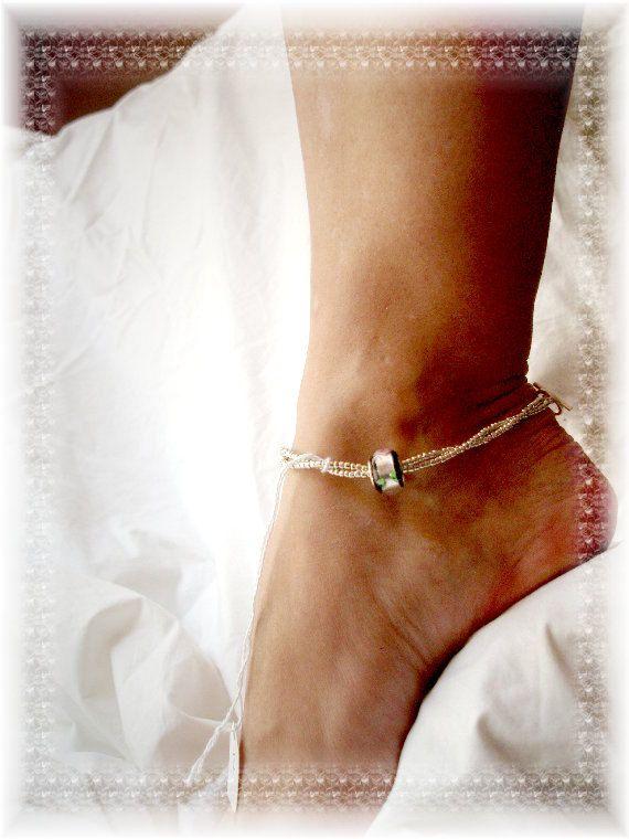 PANDORA Bracelet Designer | Black Silver Pandora Anklet Ankle Bracelet 10 Little Black Dress ...