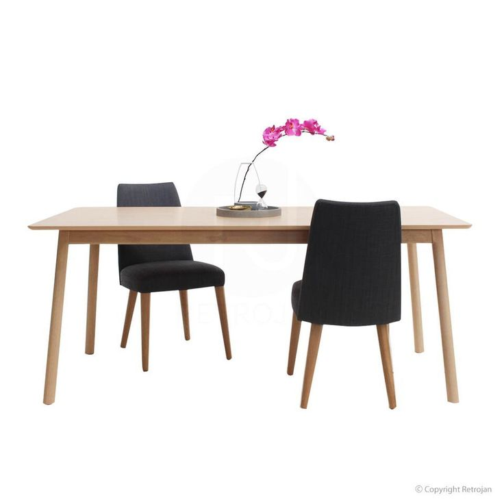 Eva Scandinavian Style 6 Seater Dining Table - Light Natural