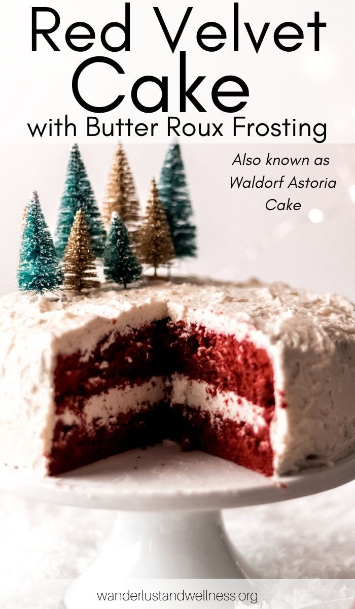 Red Velvet Cake With Butter Roux Frosting Recipe Cake