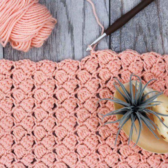 Crochet the side saddle stitch