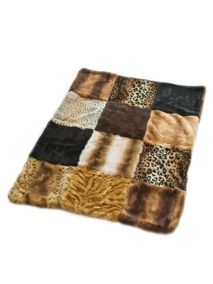 Furever Luxe Patchwork Dog Blanket by Ruffluv on Gilt Home