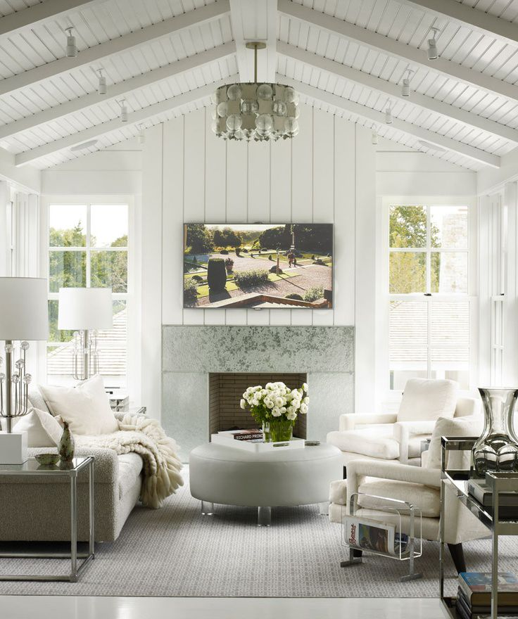 A gorgeous modern cottage living room!