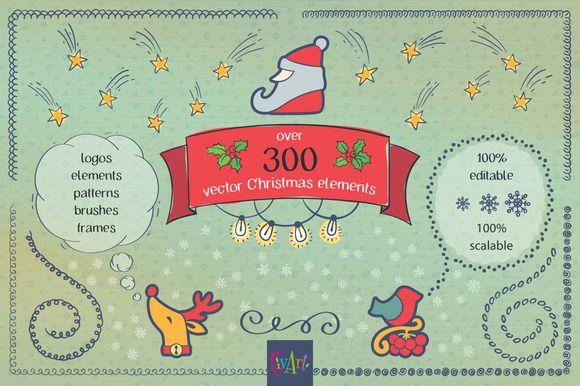 I love Christmas! Vector bundle. by GivArt on @creativemarket