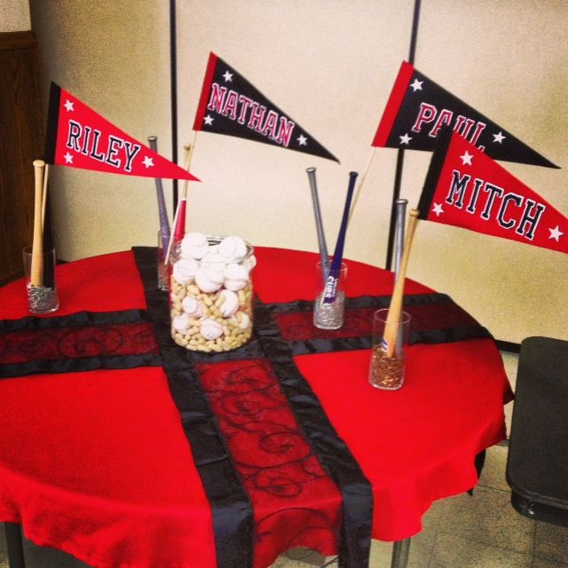 Graduation Baseball Decorating Ideas