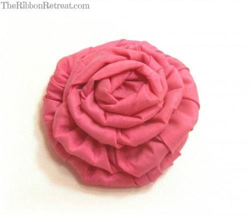 DIY Wired Ribbon Rose