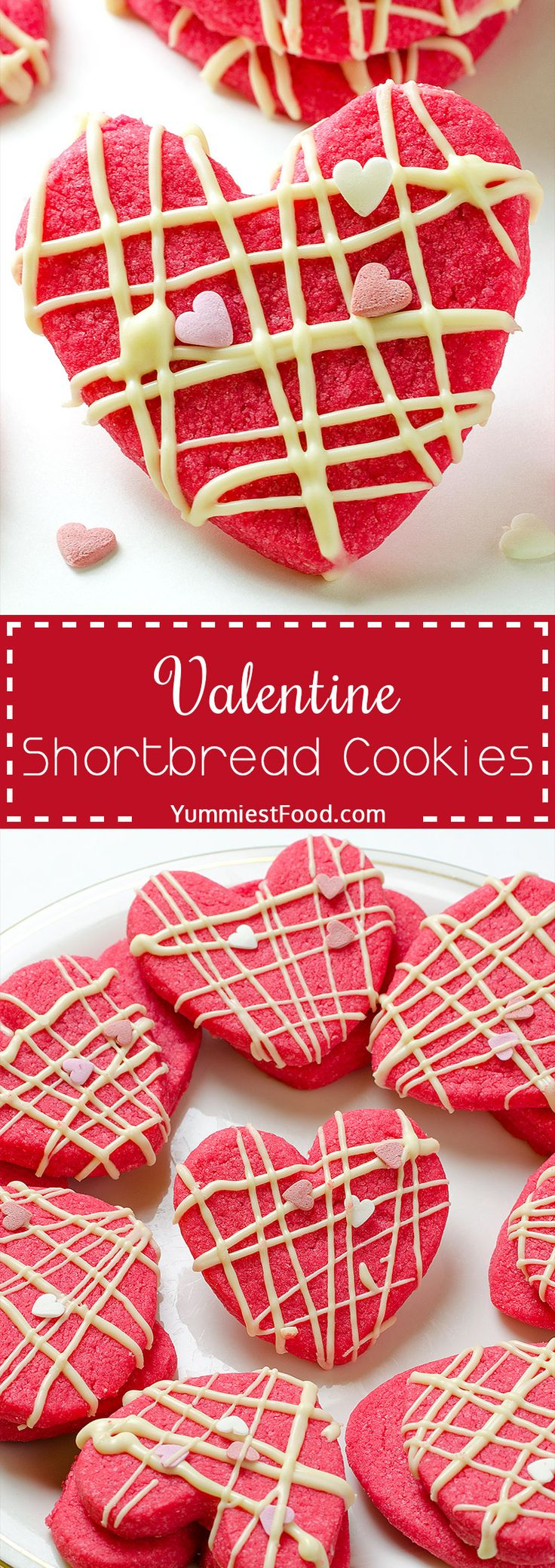 Valentine Shortbread Cookies – It is Valentine's day, so let it be magical and romantic! Make these delicious Valentine Shortbread Cookies and spend perfect moments with your partner!