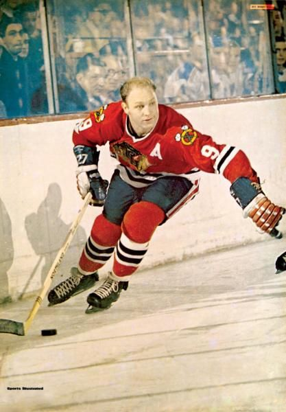 Bobby Hull ( The Golden Jet )  Chicago Black Hawks and WHA Winnipeg Jets