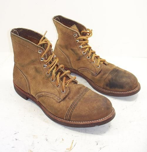 734 QQ Mens Red Wing 8113 USA IRON RANGER Lace Up Boots Sz 10 1/2 D #RedWing #HikingTrail