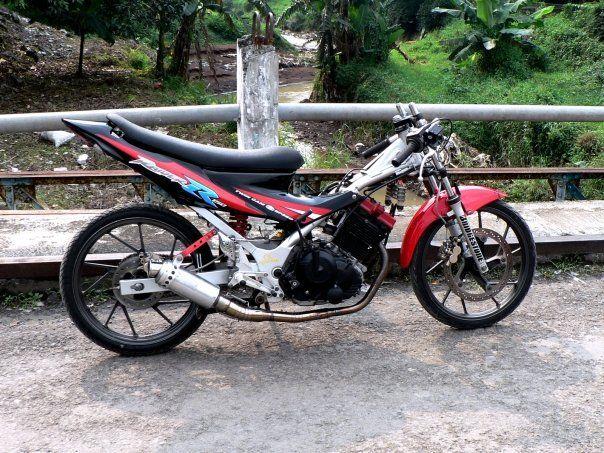 gambar foto modifikasi motor satria fu drag