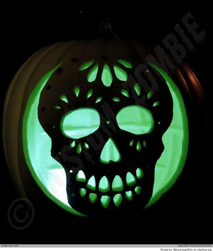 30 best pumpkin carving images on pinterest halloween for Skeleton pumpkin design