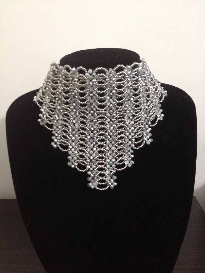Sead Beaded crystal SHYL Design-Free Beading-Kristal Kolye