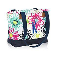 Thirty One Bags. Thirty One Demi Day Bag in Loopsy Daisy - No Monogram - 8661.  #thirty #one #bags #thirtyone #onebags